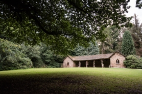 The Deer shelter in the grounds of Canon Hall. Photos by Sarah Brabbin.