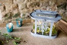 Moss filled lantern.