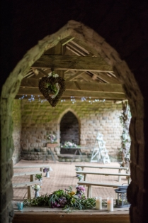Magical shot from inside the deer shelter at Canon Hall.